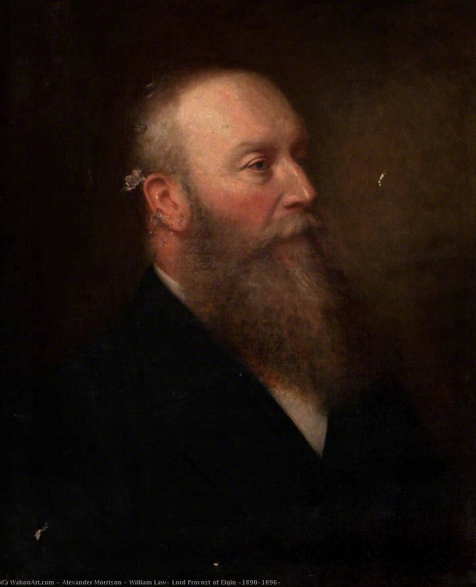 William Law, Lord Provost of Elgin (1890–1896), 1896 by Alexander Morrison | Museum Art Reproductions Alexander Morrison | WahooArt.com