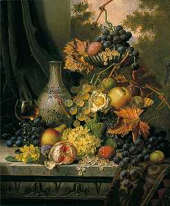 Henry George Todd - Still Life with Delft Vase