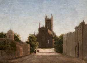 James Glen Wilson - View of the Cathedral and Mall, Downpatrick