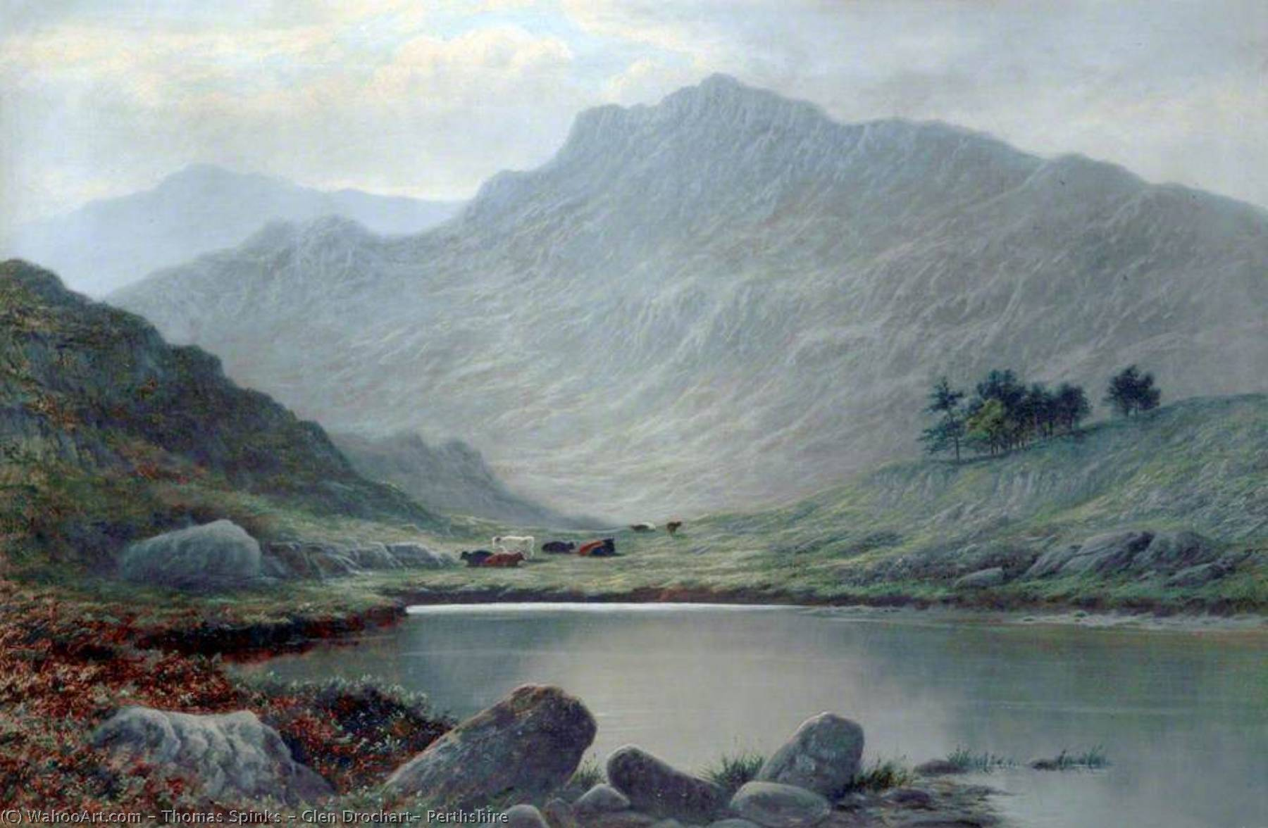 Glen Drochart, Perthshire, Oil On Canvas by Thomas Spinks