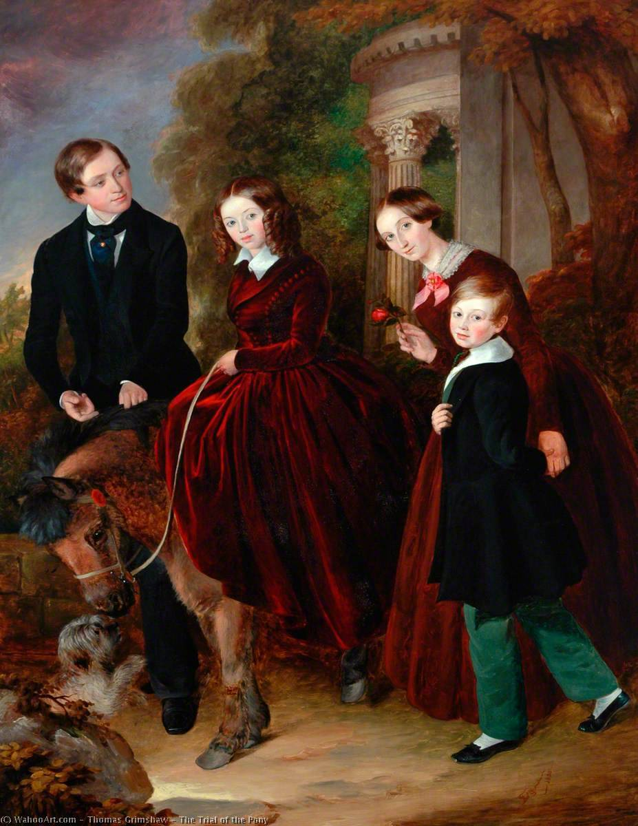 Order Art Reproductions | The Trial of the Pony, 1850 by Thomas Grimshaw | WahooArt.com