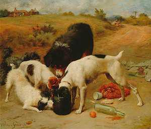 Alfred William Strutt - Pot Luck