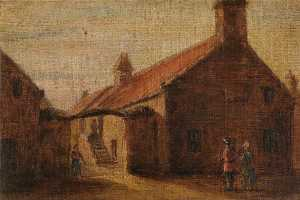 Alfred Sanderson Edward - A Bit of Old Peterhead (copy after William Niddrie)