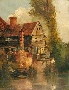 Charles John Watson - Old Cottage, Trowse Hythe, Norwich