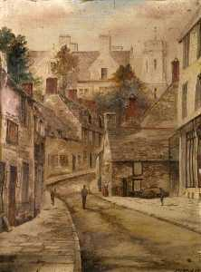 James Walter Gibbs - Swanage High Street from Below the Town Hall, Dorset