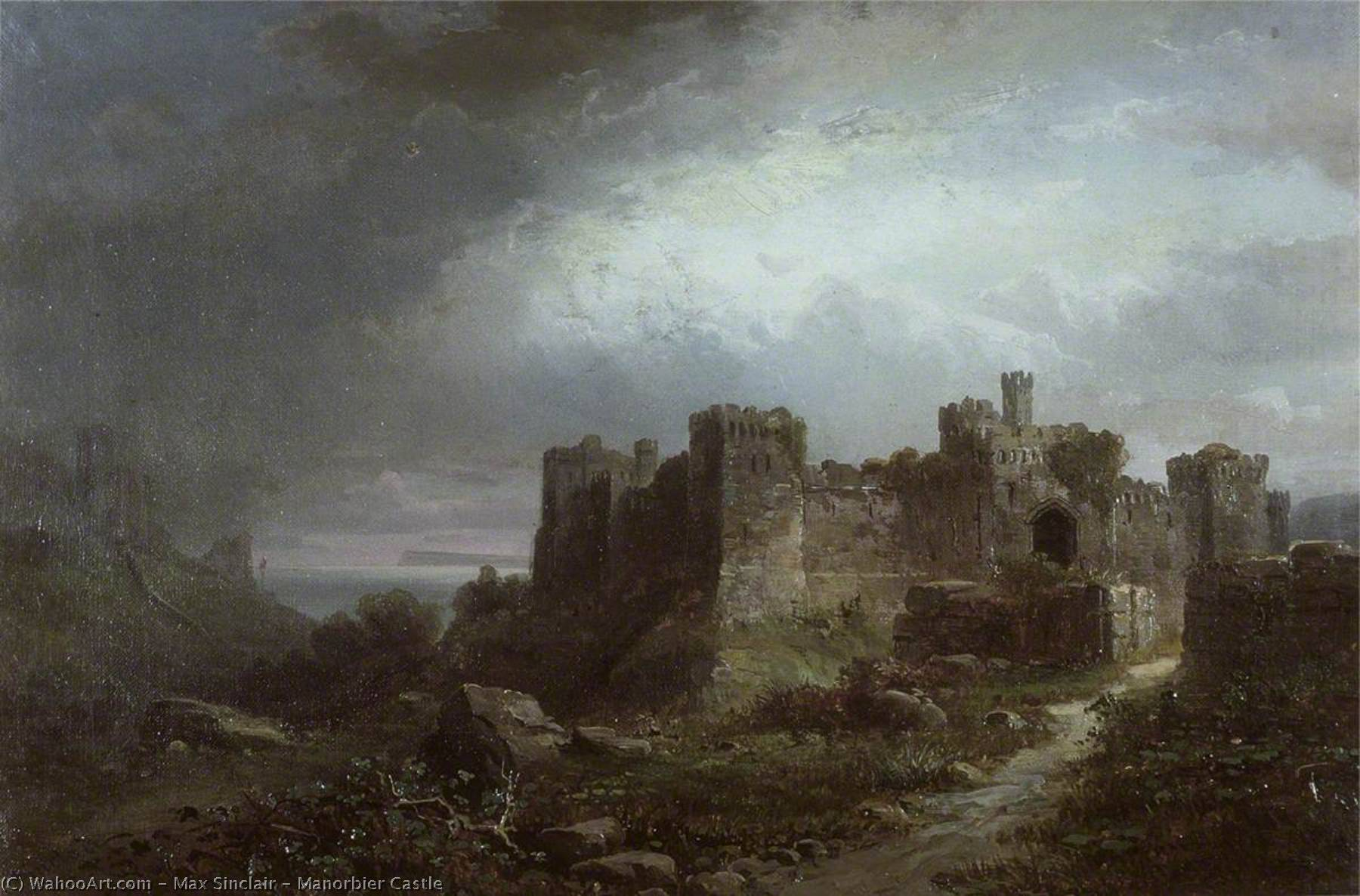 Manorbier Castle, 1884 by Max Sinclair | WahooArt.com