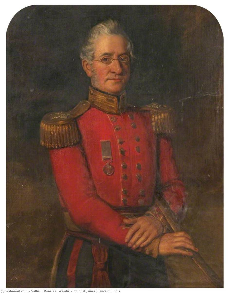 Colonel James Glencairn Burns, Oil On Canvas by William Menzies Tweedie