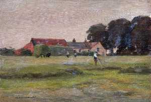 Horace Augustus Mummery - Farm at Clay Hill (Devonshire Hill)