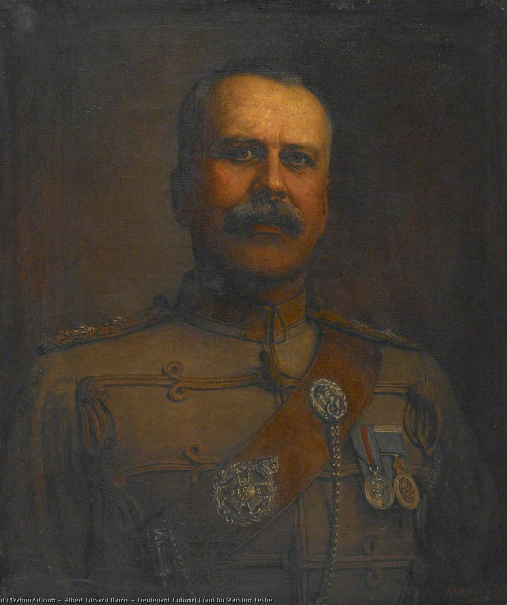 Buy Museum Art Reproductions | Lieutenant Colonel Franklin Marston Leslie, 1919 by Albert Edward Harris | WahooArt.com