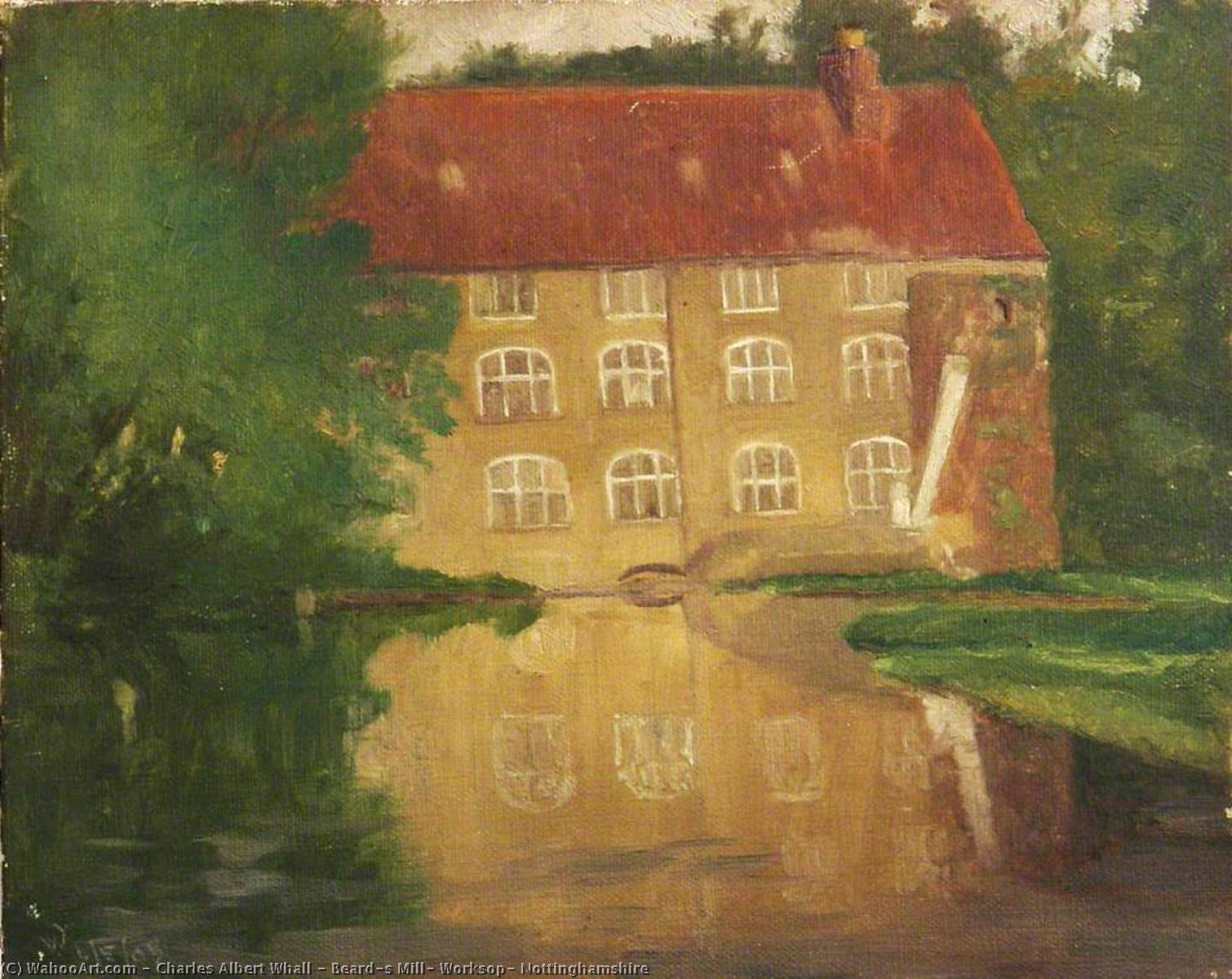 Beard's Mill, Worksop, Nottinghamshire, Oil On Canvas by Charles Albert Whall