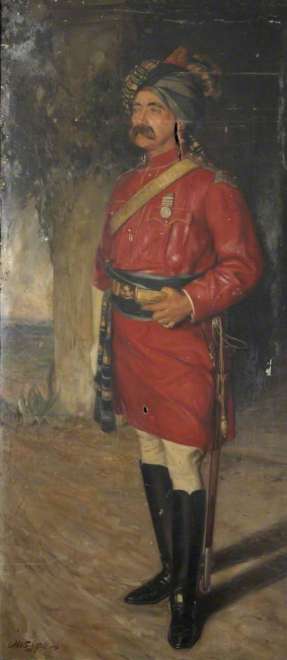 Lieutenant Colonel W. W. Lean, Fifth Bengal Cavalry, Oil On Canvas by John William Schofield