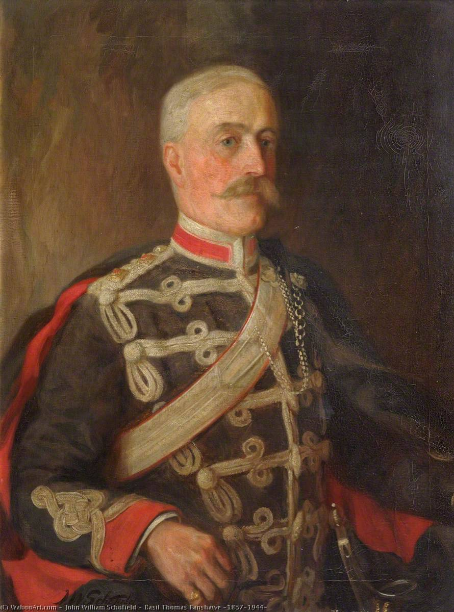 Basil Thomas Fanshawe (1857–1944), Oil On Canvas by John William Schofield