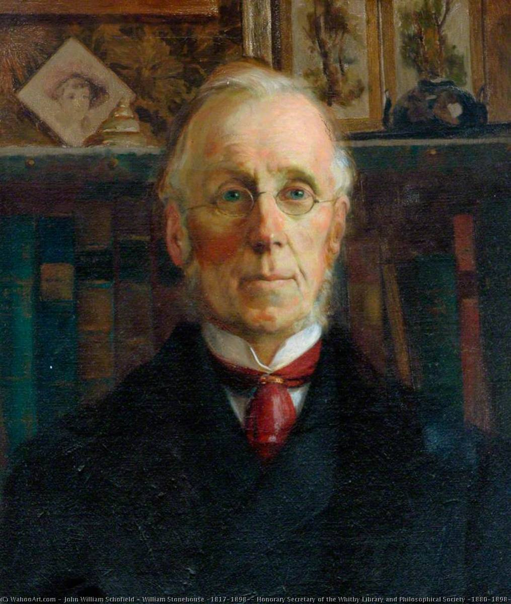 William Stonehouse (1817–1898), Honorary Secretary of the Whitby Library and Philosophical Society (1880–1898), Oil On Canvas by John William Schofield