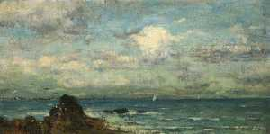 Order Art Reproductions | The Coast of Brittany, 1900 by William Stokes Hulton | WahooArt.com