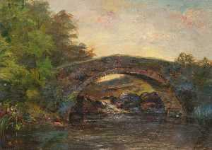 John Macniven - Bridge over a River