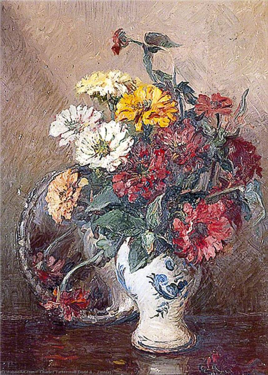 Buy Museum Art Reproductions | Zinnias, 1949 by Charles Tattershall Dodd Ii | WahooArt.com