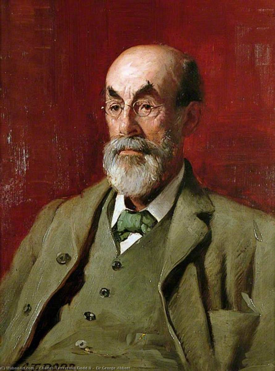 Dr George Abbott by Charles Tattershall Dodd Ii | Museum Art Reproductions Charles Tattershall Dodd Ii | WahooArt.com