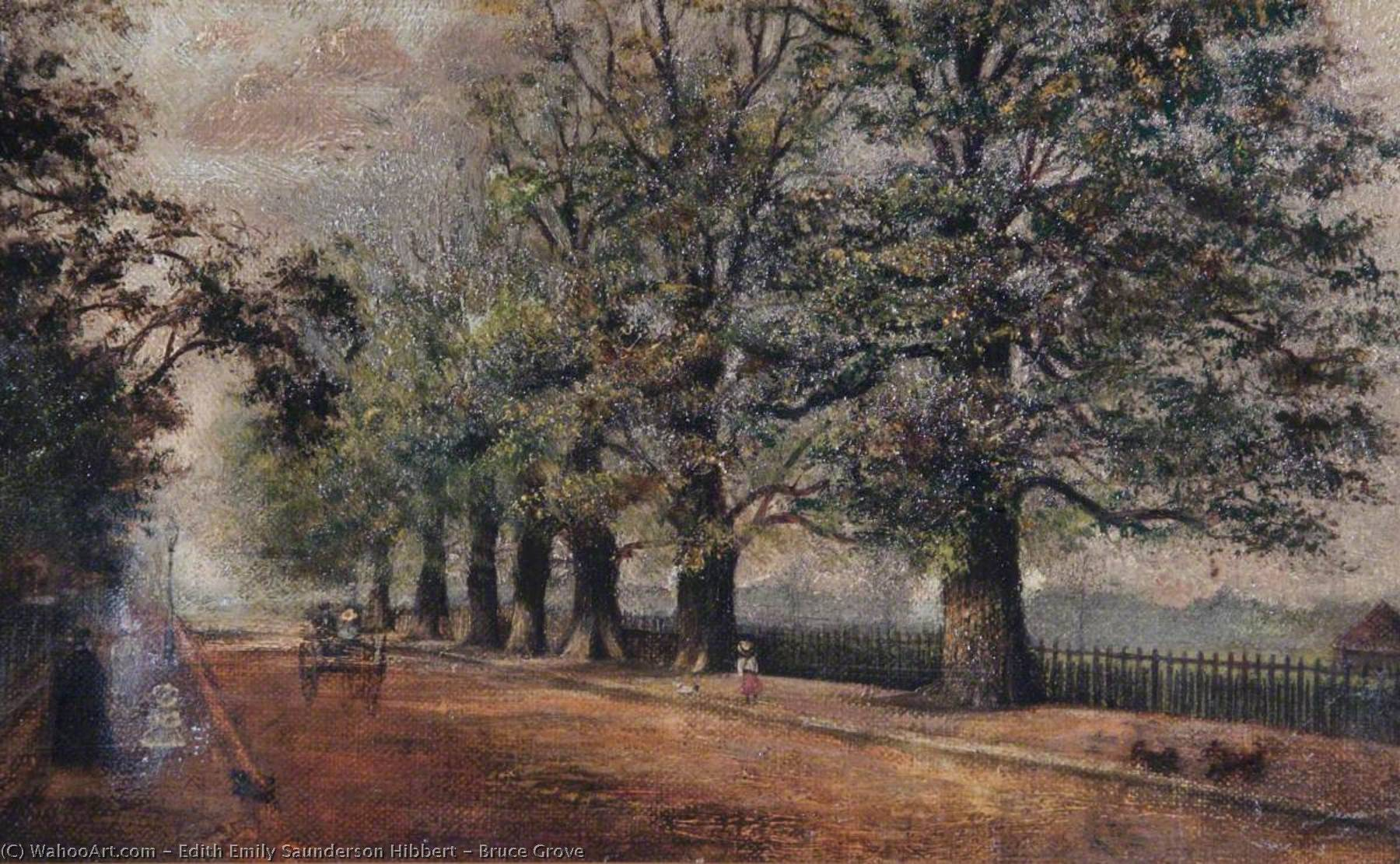 Order Paintings Reproductions | Bruce Grove, 1886 by Edith Emily Saunderson Hibbert | WahooArt.com