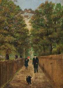 Edith Emily Saunderson Hibbert - Crows Walk, Bruce Grove, with the Station Master in 1880