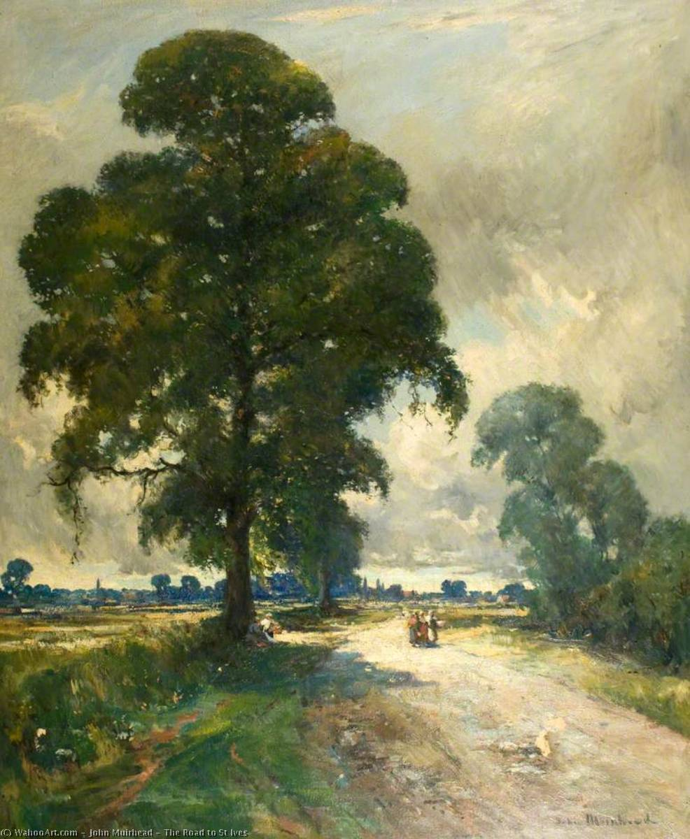 The Road to St Ives by John Muirhead | Reproductions John Muirhead | WahooArt.com