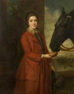 Frances Elizabeth Grace - Anne Thursby, Daughter of William Hanbury of Kelmarsh, and Horse (copy of an earlier painting)