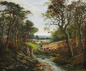 Order Art Reproductions | Harvesting in Worcestershire by William Rodway Barnes | WahooArt.com