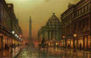 Louis Hubbard Grimshaw - Grainger Street, Newcastle upon Tyne