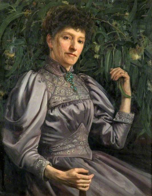 Portrait of a Lady, Oil On Canvas by Joseph Wilson Forster