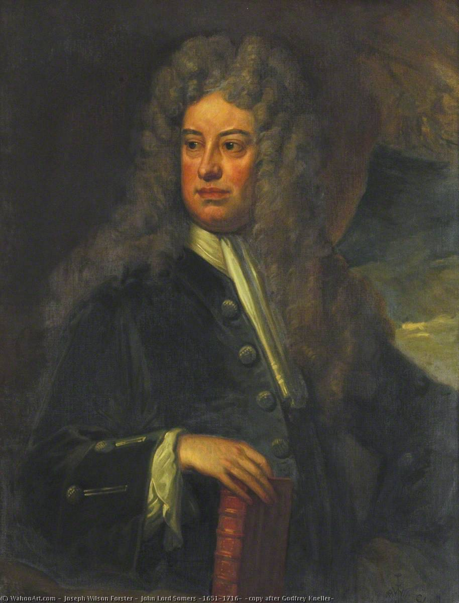 John Lord Somers (1651–1716) (copy after Godfrey Kneller), Oil On Canvas by Joseph Wilson Forster