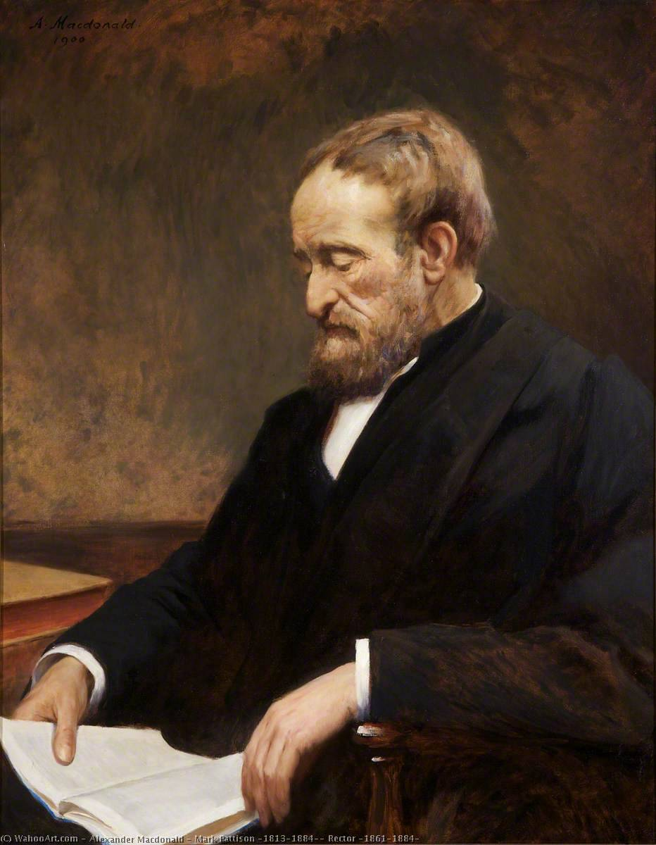 Mark Pattison (1813–1884), Rector (1861–1884), 1900 by Alexander Macdonald | WahooArt.com