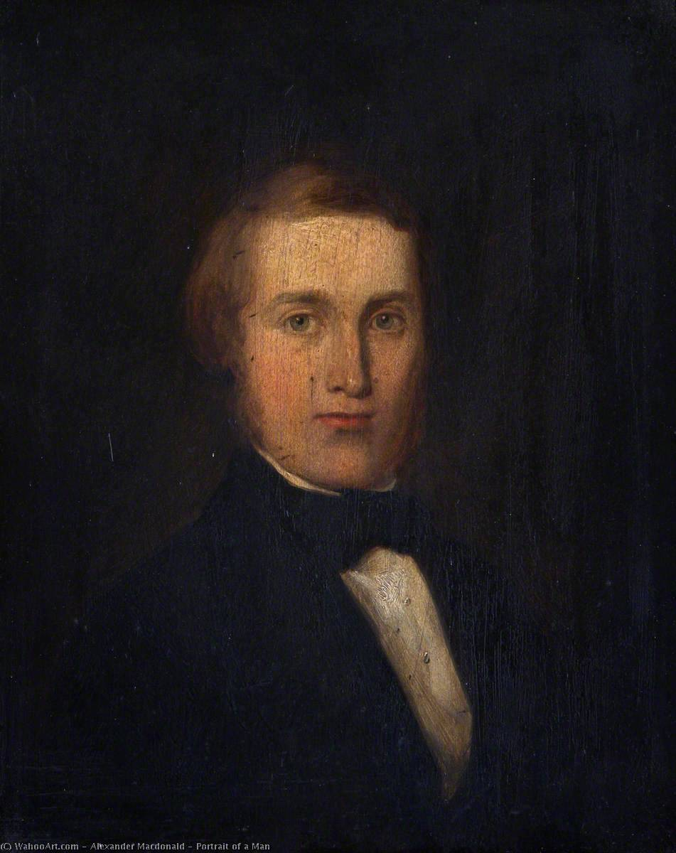 Portrait of a Man, Oil On Panel by Alexander Macdonald