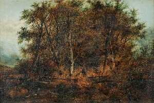 Order Famous Paintings Reproductions : Landscape at Costessey, Norfolk by William Philip Barnes Freeman | WahooArt.com