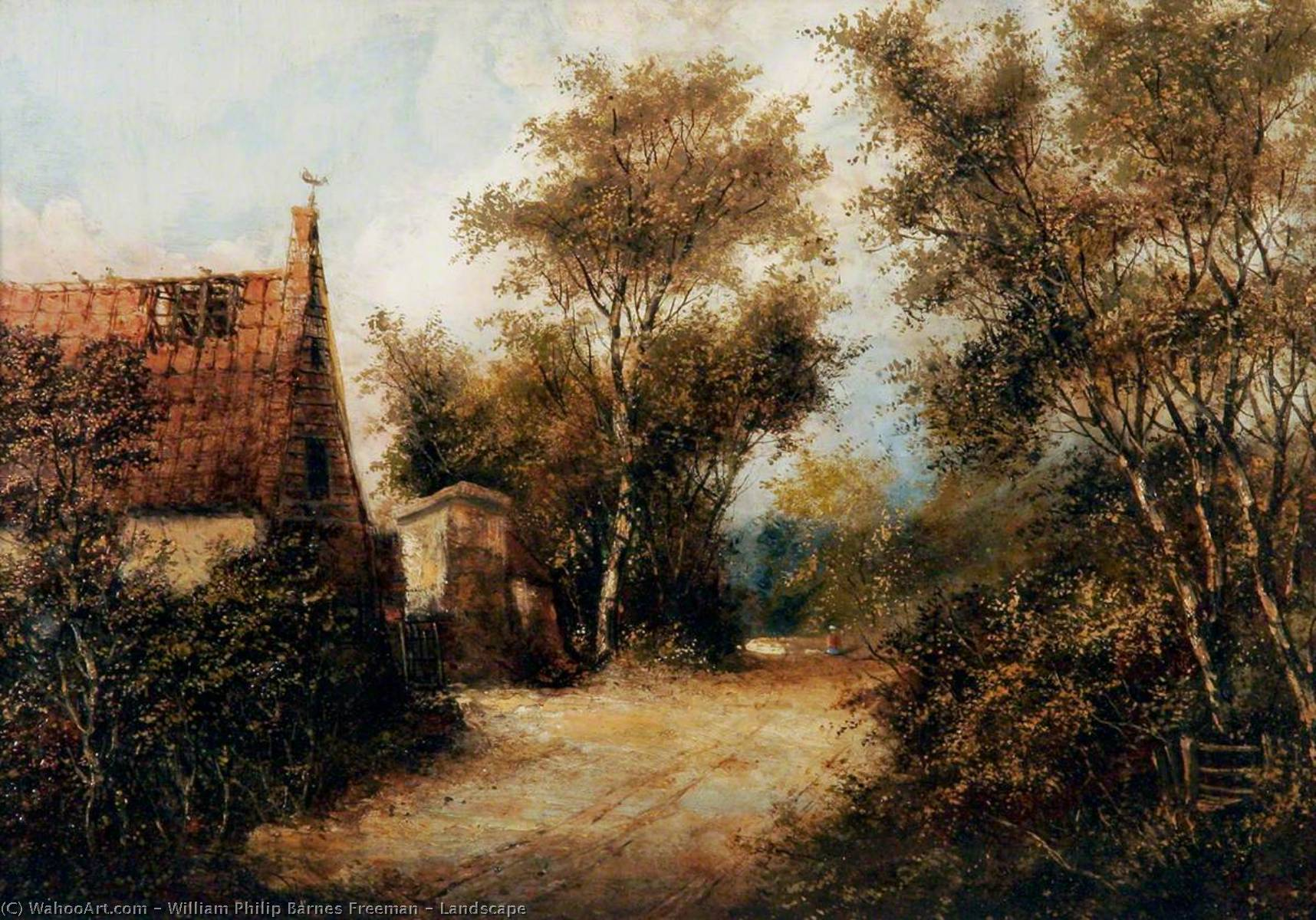 Landscape, Oil by William Philip Barnes Freeman
