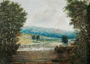 Order Museum Quality Reproductions : Costessey Weir, Norfolk, with View of Costessey Hall by William Philip Barnes Freeman | WahooArt.com
