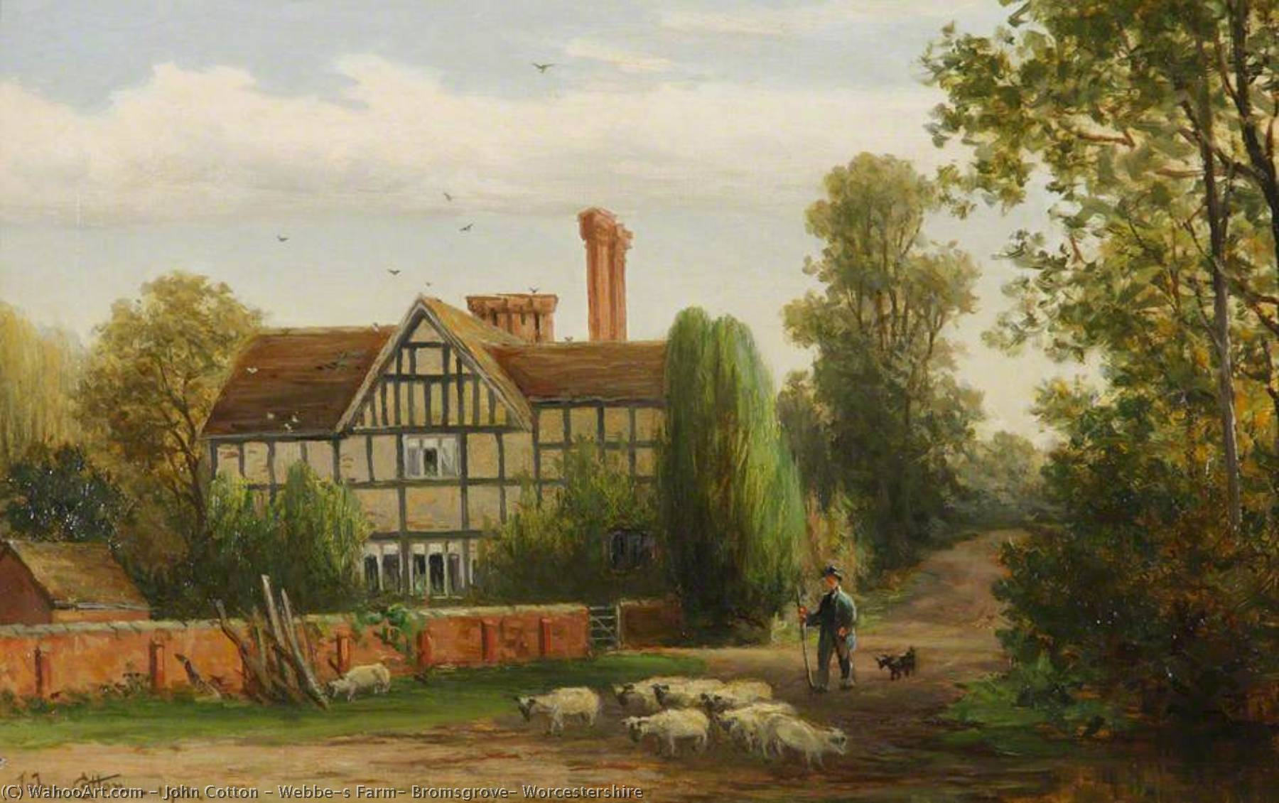 Webbe`s Farm, Bromsgrove, Worcestershire, 1900 by John Cotton | Reproductions John Cotton | WahooArt.com