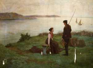 Frederick Millard - A Fisherman and a Woman beside a Shore