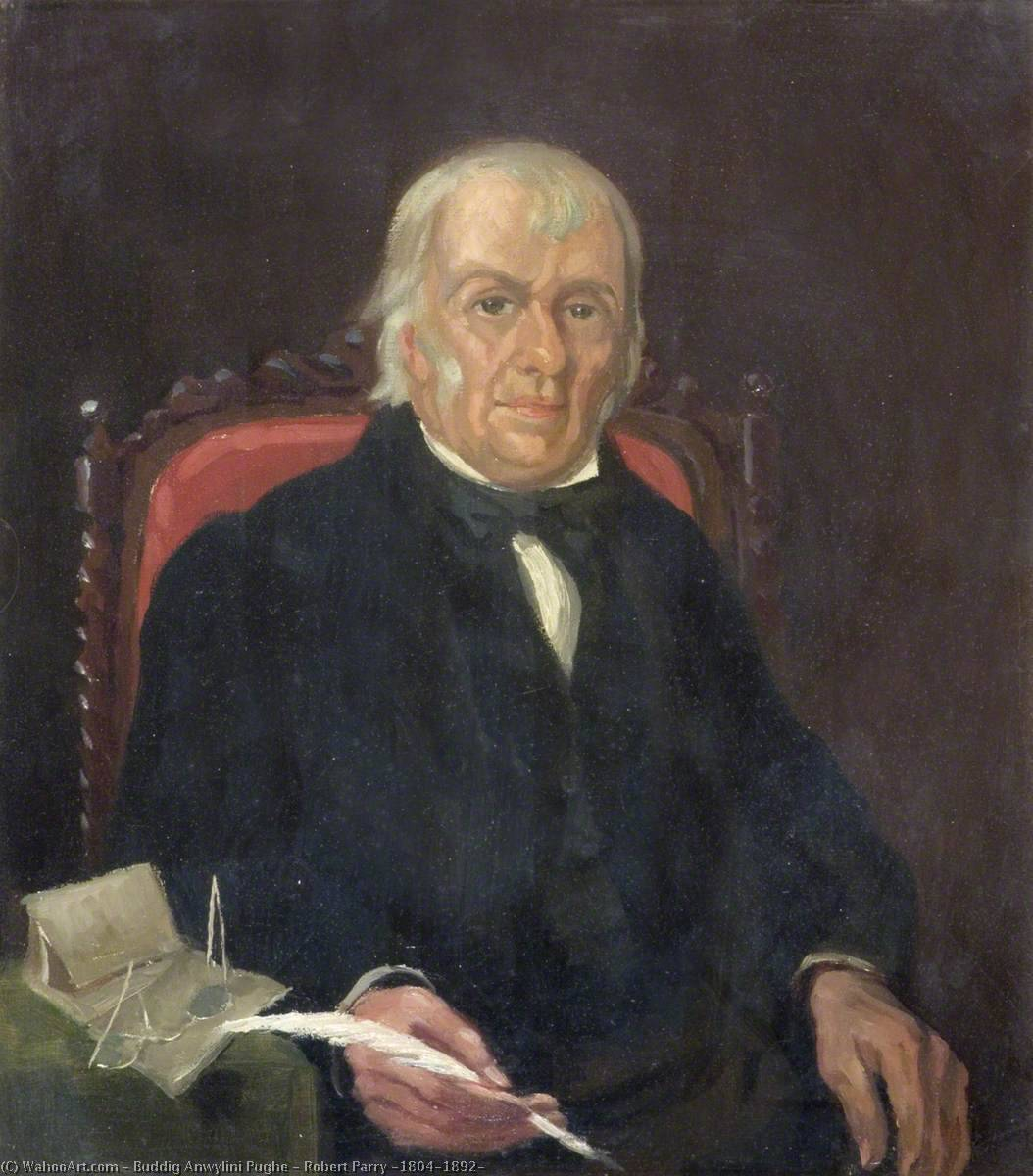 Robert Parry (1804–1892) by Buddig Anwylini Pughe | Paintings Reproductions Buddig Anwylini Pughe | WahooArt.com