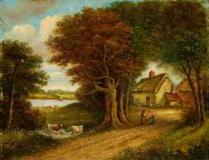 Christopher Mark Maskell - Pond Hall and River Orwell, Suffolk