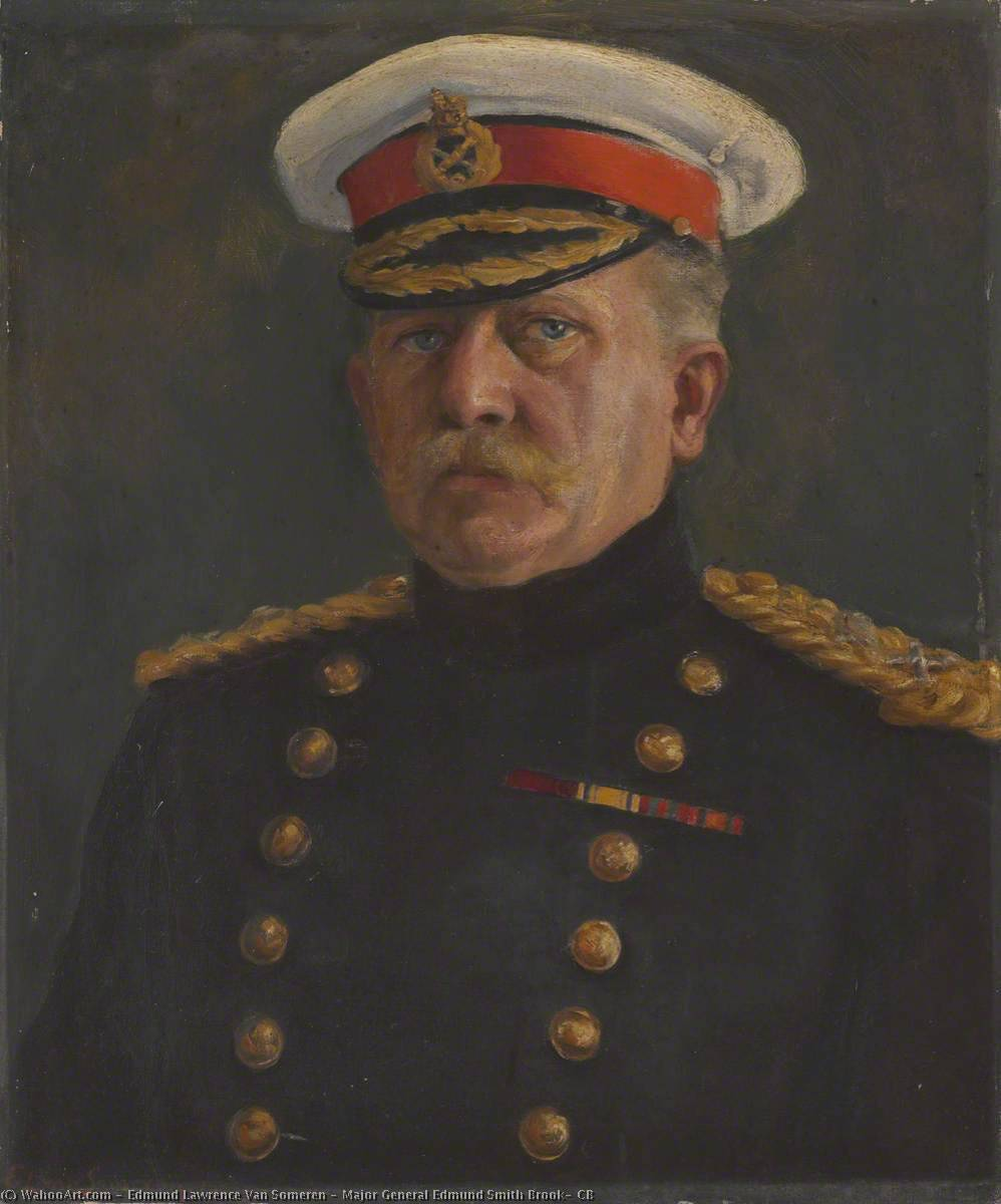 Order Art Reproductions | Major General Edmund Smith Brook, CB, 1905 by Edmund Lawrence Van Someren | WahooArt.com