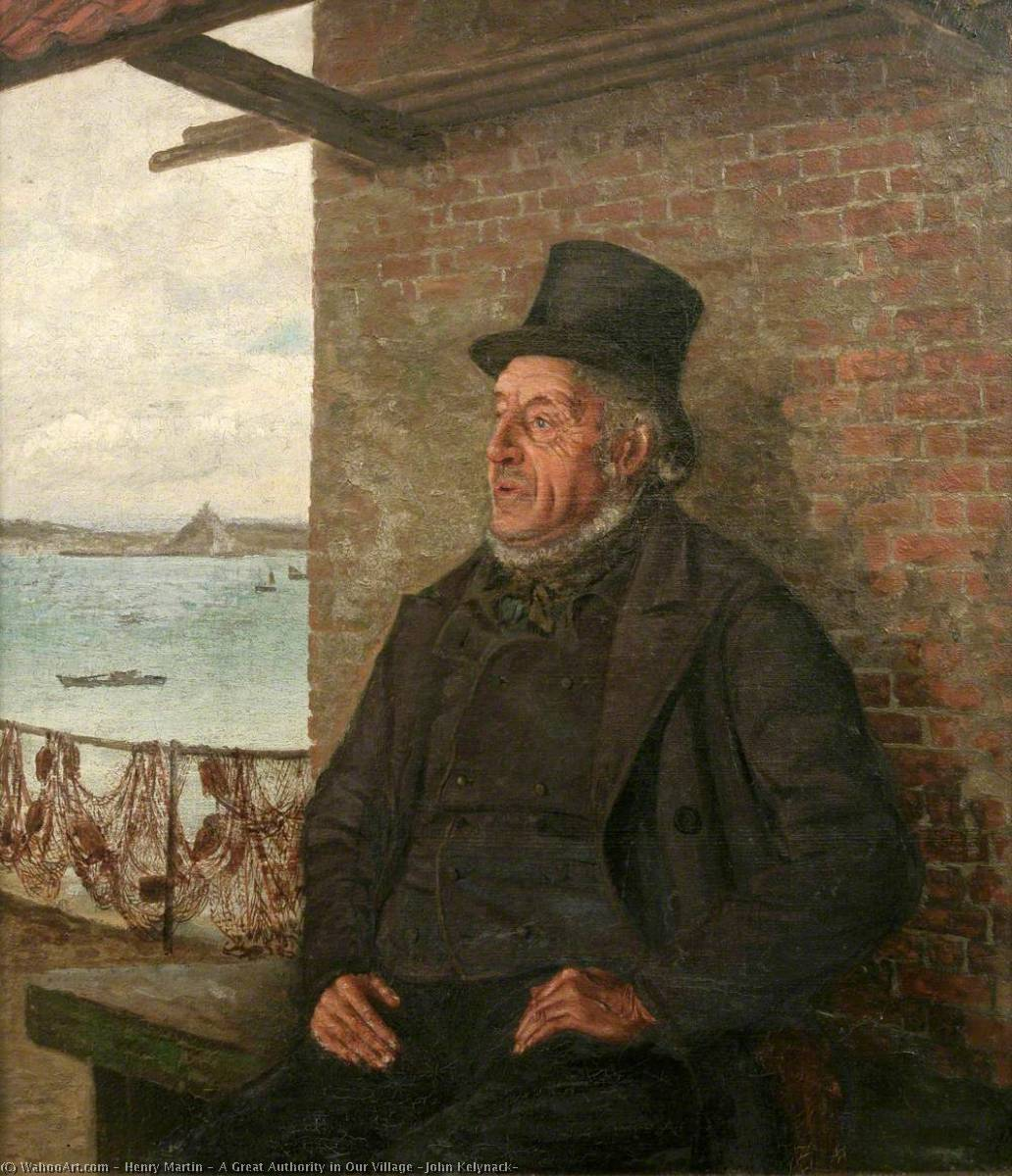 A Great Authority in Our Village (John Kelynack), Oil On Canvas by Henry Martin