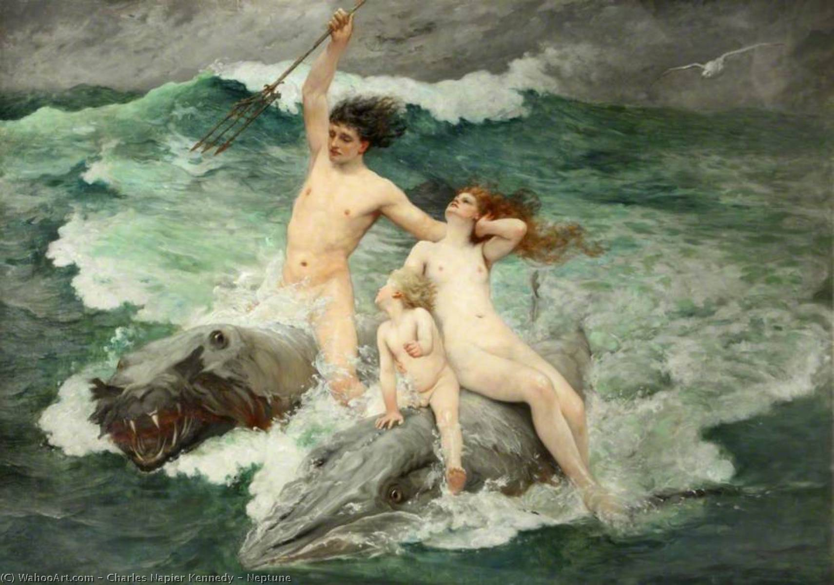 Neptune, Oil On Canvas by Charles Napier Kennedy