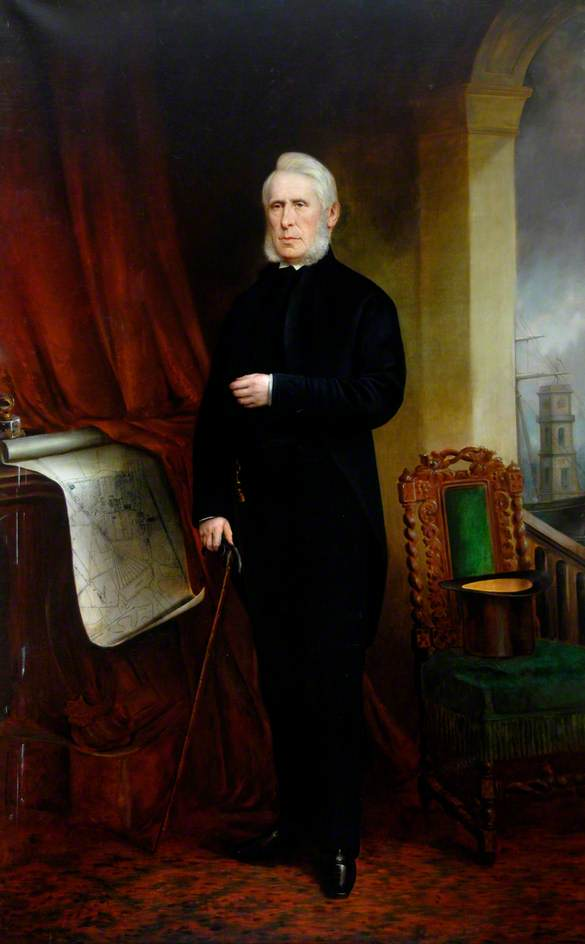 Joseph Pease (1799–1872), Oil On Canvas by Charles Napier Kennedy