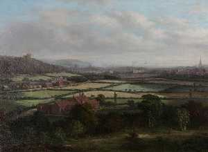 William R Stone - View of Dudley from the North
