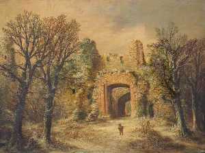 William R Stone - Part of the Ruins of Dudley Castle in Wintertime