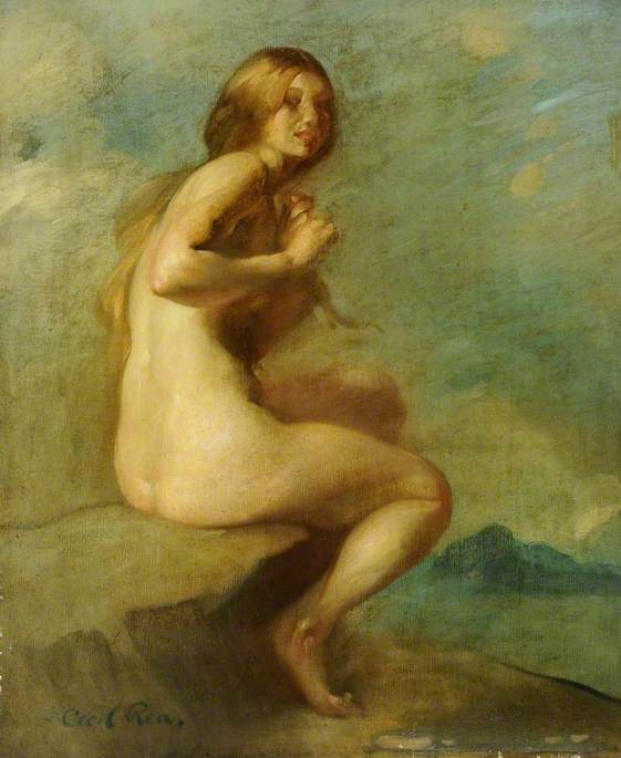 Nude, Oil On Canvas by Cecil William Rea (order Fine Art fine art print Cecil William Rea)