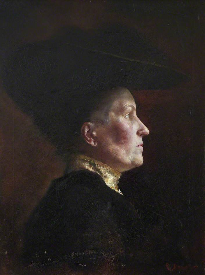 Florence Kate Duncan, 1906 by Reginald Duncan | Oil Painting | WahooArt.com