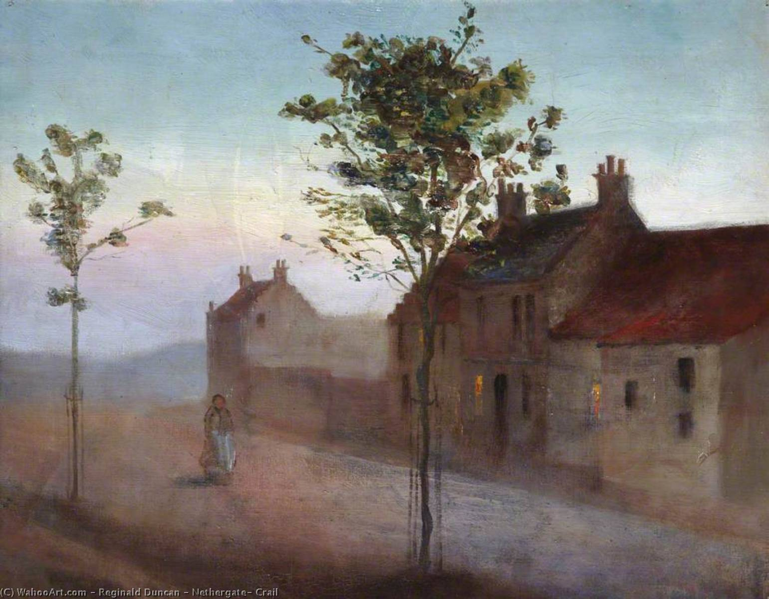 Nethergate, Crail by Reginald Duncan | Oil Painting | WahooArt.com