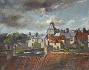 Reginald Duncan - Rooftops of Marketgate, Crail