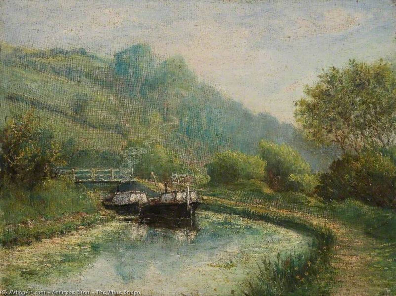 The White Bridge, 1915 by Ambrose Elton | Oil Painting | WahooArt.com
