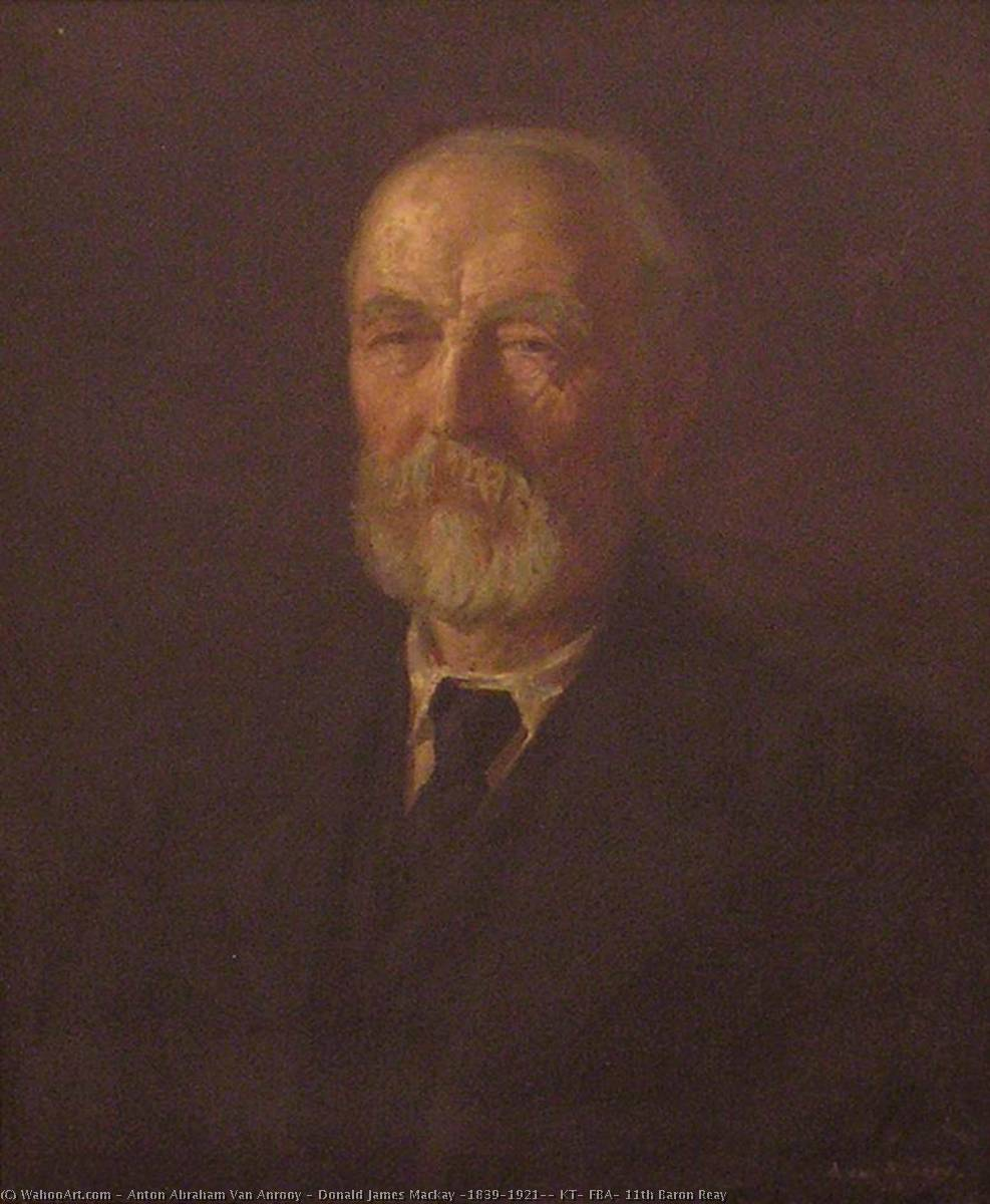 Donald James Mackay (1839–1921), KT, FBA, 11th Baron Reay, Oil On Canvas by Anton Abraham Van Anrooy